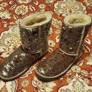 Sequin Brown & Silver UGGS Price Firm
